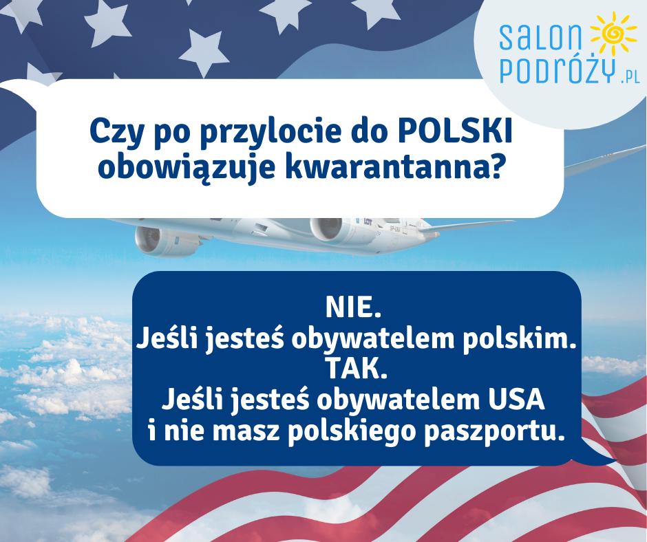 Czy po przylocie do Polski obowiązuje kwarantanna