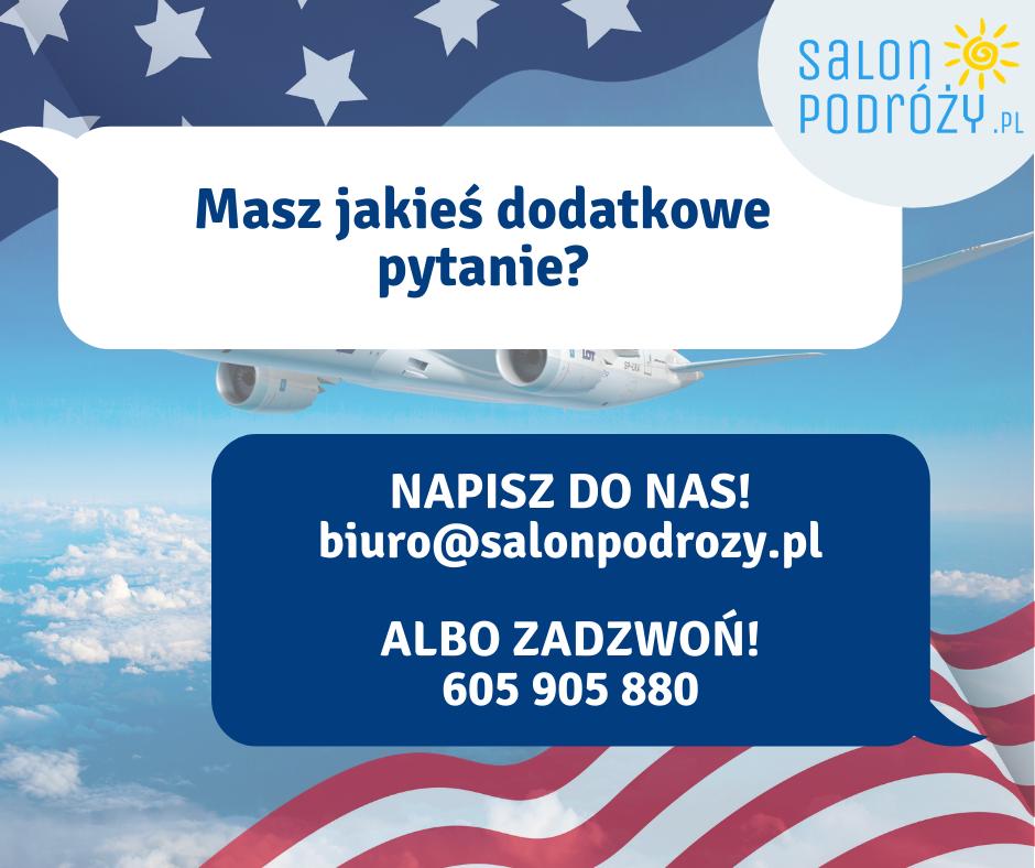 loty do USA informacje
