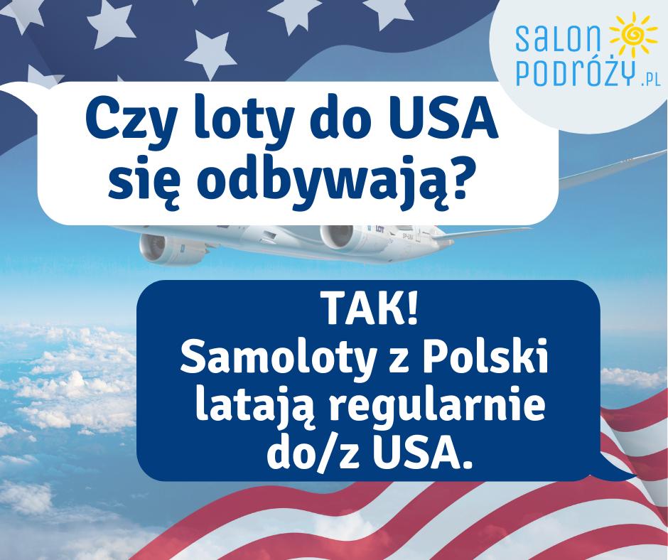 Czy loty do USA się odbywają